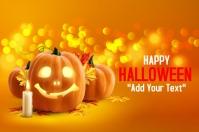 template happy halloween party design 海报