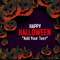 template happy halloween party design Instagram 帖子