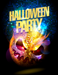 template happy halloween party design ใบปลิว (US Letter)