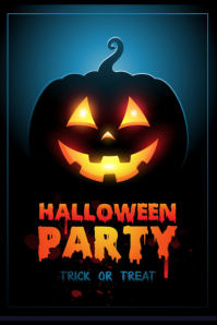 template happy halloween party design โปสเตอร์