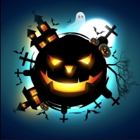 template happy halloween party design