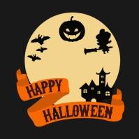 template happy halloween party design Iphosti le-Instagram