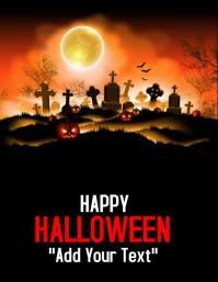 template happy halloween party design Folder (US Letter)