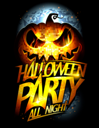 template happy halloween party design Flyer (US Letter)