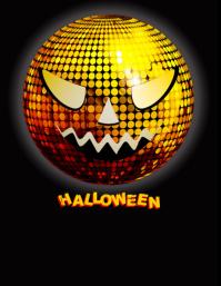 template happy halloween party design Рекламная листовка (US Letter)