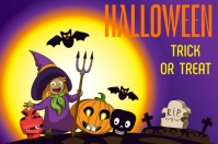 template happy halloween party design Poster