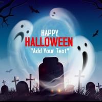 template happy halloween party design Wpis na Instagrama