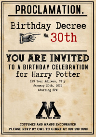 Template Harry Party Birthday Decree