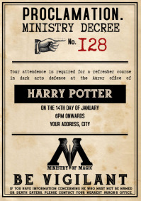 Template Harry Party Invitation