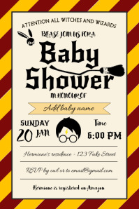 Template Harry Potter Baby Shower Gryffindor
