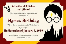 Template Harry Potter Birthday