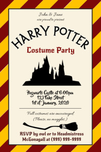 Template Harry Potter Costume Party