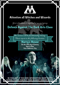 Template Harry Potter Defence Against Dark Ar