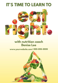 Template health nutrition A4