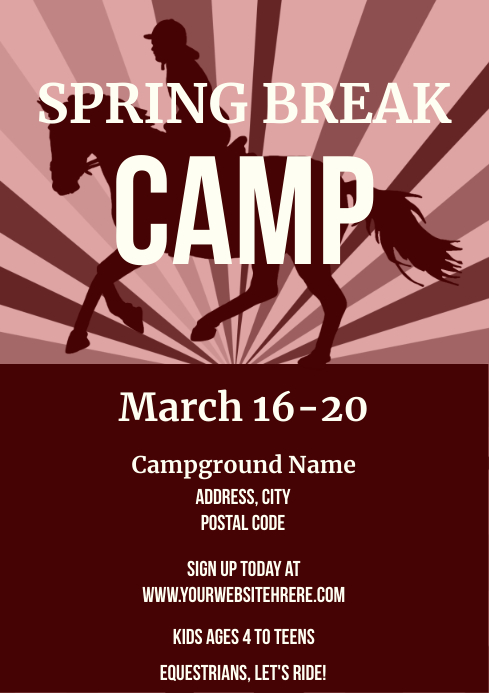 Template horse back riding camp