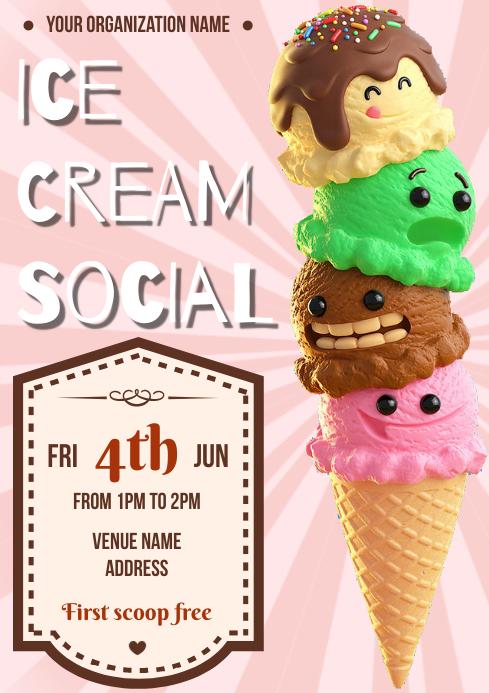 Template ice cream A4