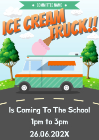 Template ice cream truck A4