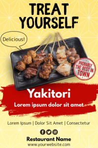 Template japanese food Póster