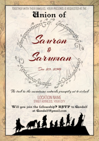 Template Lord of The Rings LOTR Wedding Circl