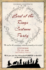 Template Lord of The Rings LOTR Wedding Circle