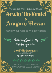 Template lord of the rings LOTR wedding invit