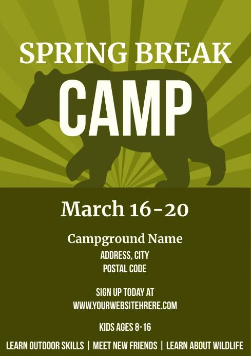 Template march spring break camp A4
