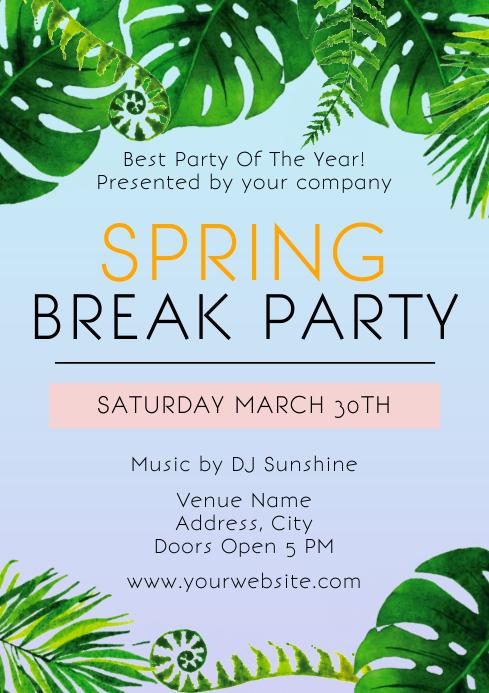 Template march spring break