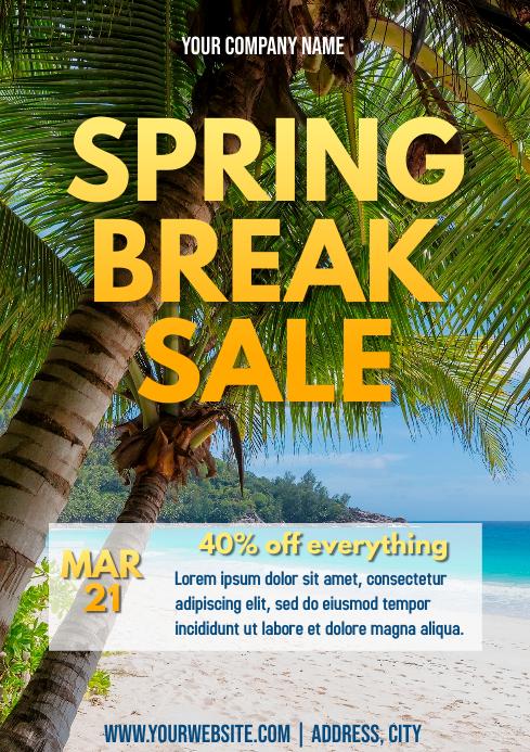 Template march spring break sale