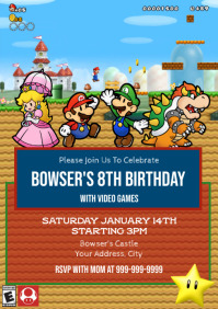 Template Mario Birthday Party