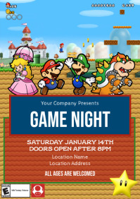 Template Mario Game Night