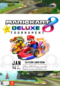 Template mario kart tournament A4