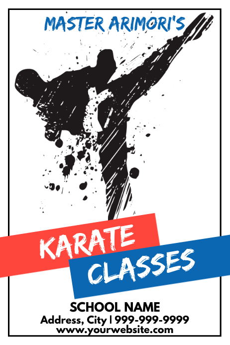 Template martial arts karate Affiche