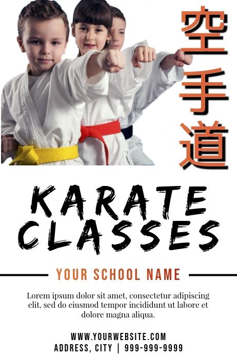 Template martial arts karate Poster