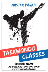 Template martial arts taekwondo