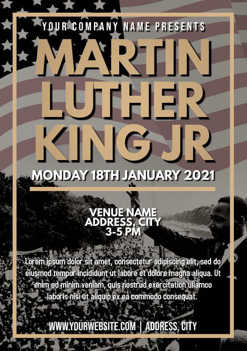 Template martin luther king jr day A4