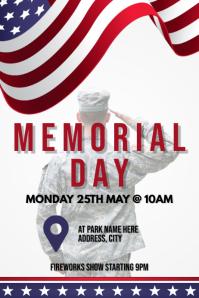 Template memorial day Poster