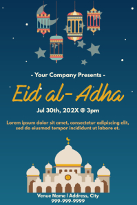 Template muslim eid 海报