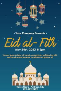 Template muslim eid โปสเตอร์