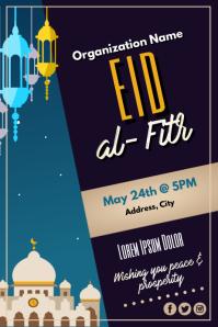 Template muslim eid Poster