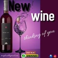 template of wine Instagram Post
