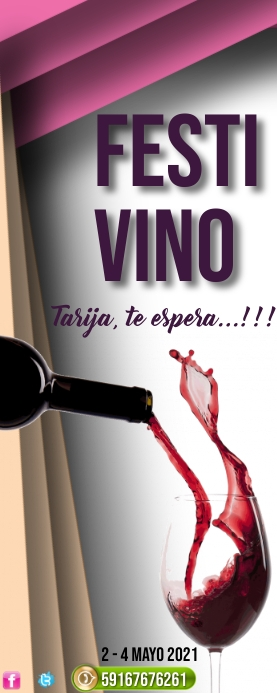 template of wine Rolbanner 2' × 5'