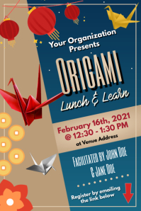 Template origami lunch & learn Poster