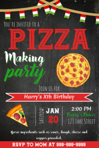 Template Pizza Birthday Party