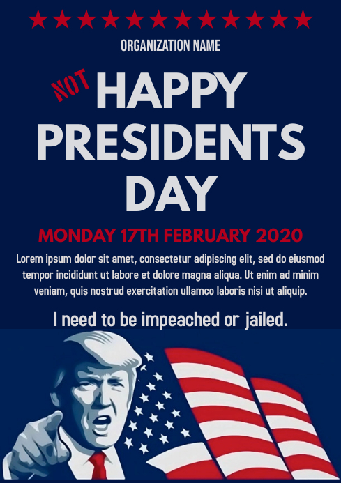 Template president's day A4