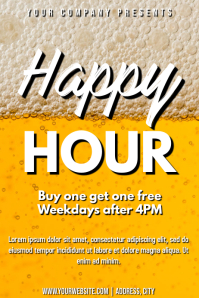 Template pub happy hour