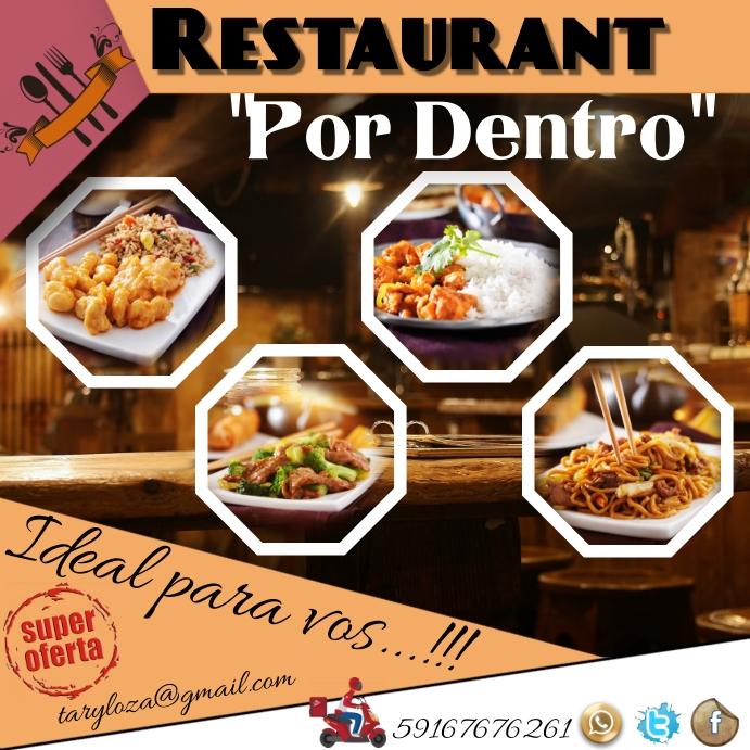 template restaurant Instagram Plasing