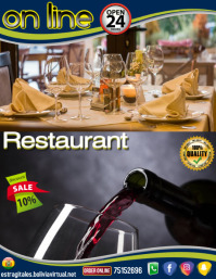 template restaurant Folder (US Letter)