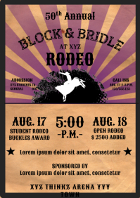 Template Rodeo Flyer A4