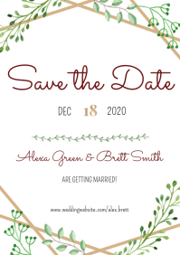 Template wedding save the date