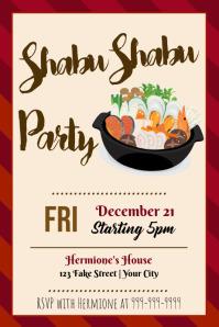 Template Shabu Shabu Party